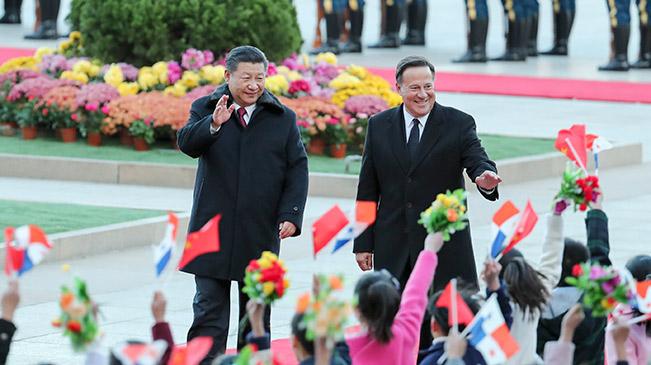 Xi Jinping trifft panamaischen Präsidenten Juan Carlos Varela in Beijing