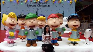 Snoopy-Ausstellung in Hongkong abgehalten