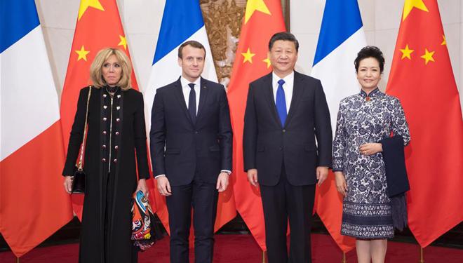 Xi Jinping trifft Macron in Beijing