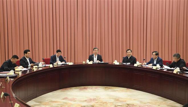Wang Yang sitzt Sitzung der Führungsgruppe der Parteimitglieder des Landeskomitees der PKKCV vor