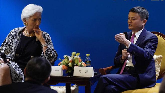 Jack Ma führt Gespräche mit Christine Lagarde in Boao