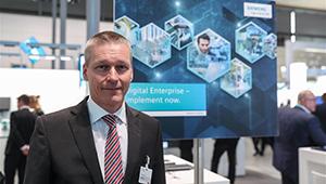 CEO von Siemens stellt die Digitalisierung für die Industrie während der Hannover Messe 2018 vor