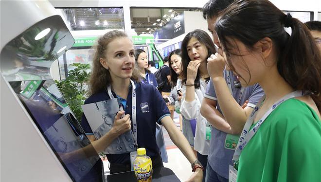Internationale Unbeaufsichtigte Einzelhandelsausstellung in Shanghai abgehalten