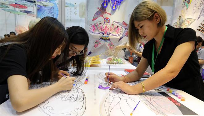 5. chinesische immaterielle Kulturerbeausstellung in Jinan abgehalten
