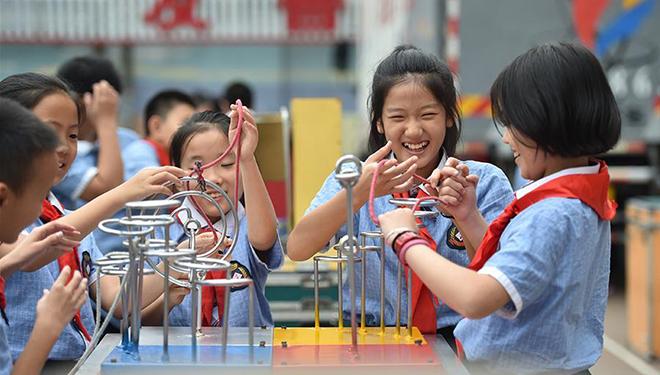 Aktivität für wissenschaftliches Bewusstsein in einer Grundschule in Hebei abgehalten