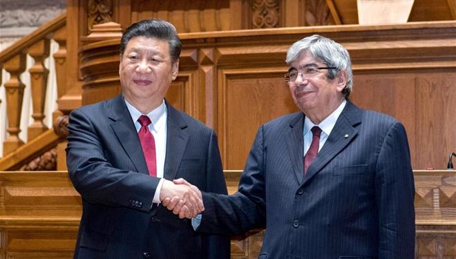 Xi Jinping trifft Präsidenten des portugiesischen Parlaments