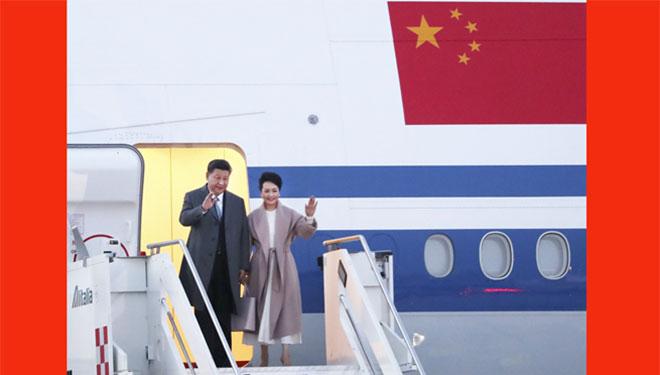 Xi trifft in Rom für Staatsbesuch in Italien ein