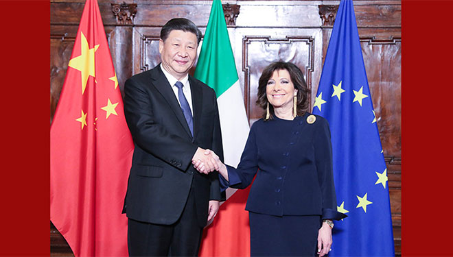 Xi Jinping trifft Präsidentin des italienischen Senats in Rom