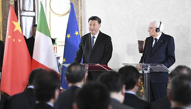 Xi Jinping und italienischer Präsident treffen Vertreter der Wirtschafts- und Kulturkreise