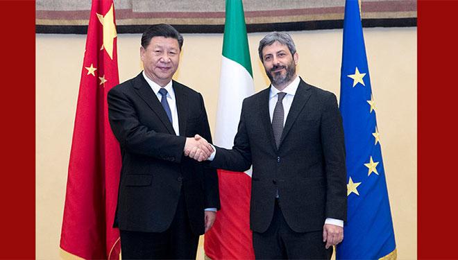 Xi Jinping trifft Präsidenten der italienischen Abgeordnetenkammer