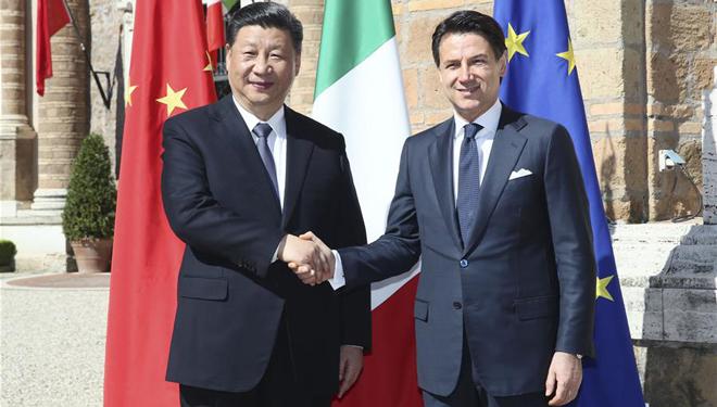 Xi Jinping führt Gespräche mit Giuseppe Conte
