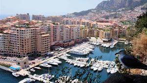 Bezauberte Landschaft in Monaco