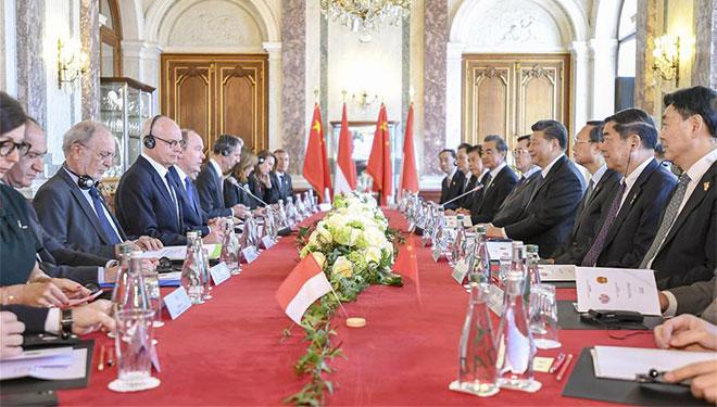 Xi führt Gespräche mit Fürst Albert II. über Stärkung der Beziehungen zwischen China und Monaco