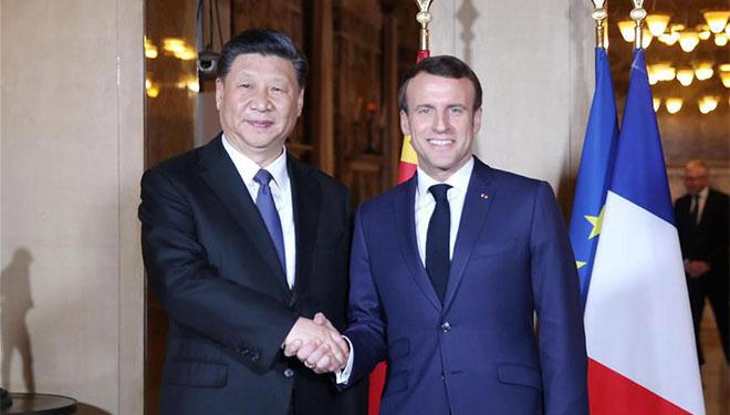 Xi trifft Macron, um solide Beziehungen zwischen China und Frankreich aufrechtzuerhalten