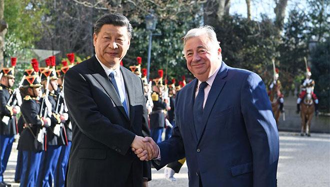 Xi Jinping trifft Präsidenten des französischen Senats