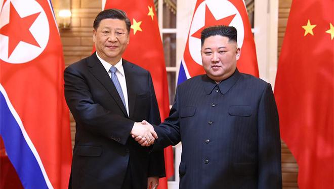 Xi Jinping, Kim Jong-un führen Gespräche in Pjöngjang