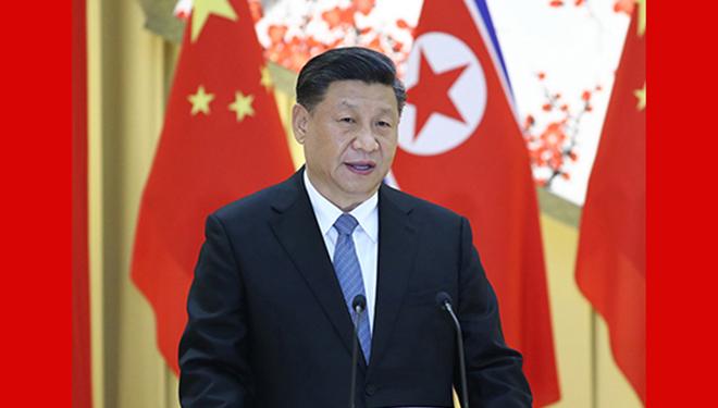Xi nimmt an Willkommensbankett teil und schaut sich Gymnastik- und Kunstaufführung an