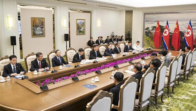 Xi, Kim vereinbaren, gemeinsam glänzende Zukunft der bilateralen Beziehungen zu schaffen