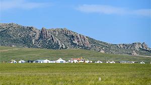 Weite Wiese in Innerer Mongolei