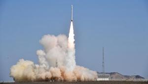 Chinas neue Trägerrakete Smart Dragon-1 startet vom Jiuquan Satellitenstartzentrum