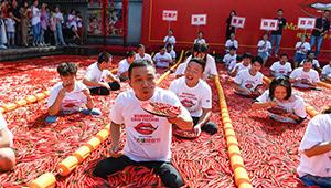 Chili-Esswettbewerb in Hangzhou abgehalten