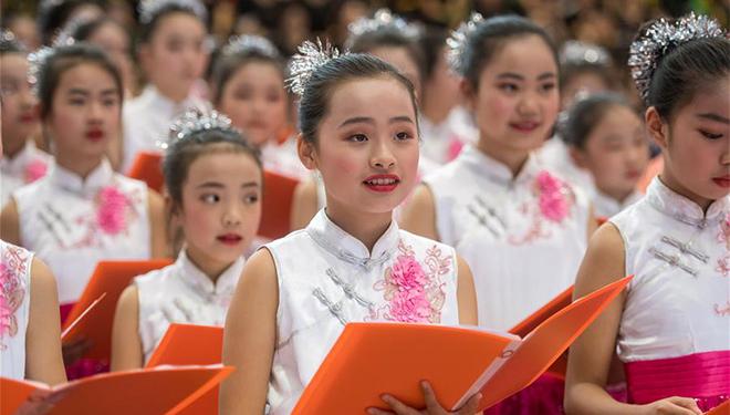 Choraufführung in Kunming zur Feier des bevorstehenden Nationalfeiertages