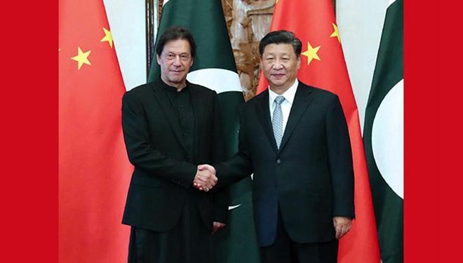 Xi Jinping trifft pakistanischen Premierminister Imran Khan in Beijing