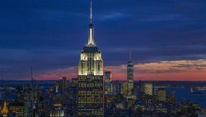 Blick auf Manhattan vom Top of the Rock im Rockefeller Center