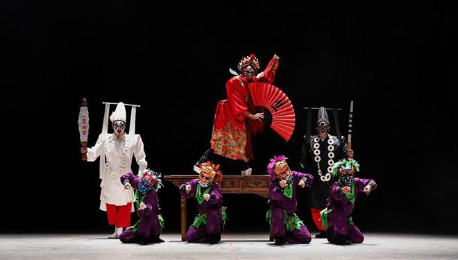 """Chinesische Oper """"Der Pfingstrosen-Pavillon"""" in Guanajuato von Mexiko aufgeführt"""