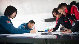 Athleten nehmen an Flugwettbewerb des Aeronautischen Fünfkampfs bei 7. Militärweltspielen teil