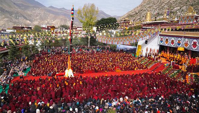 Veranstaltung zum 600. Jahrestag der Errichtung des Sera-Klosters in Tibet abgehalten