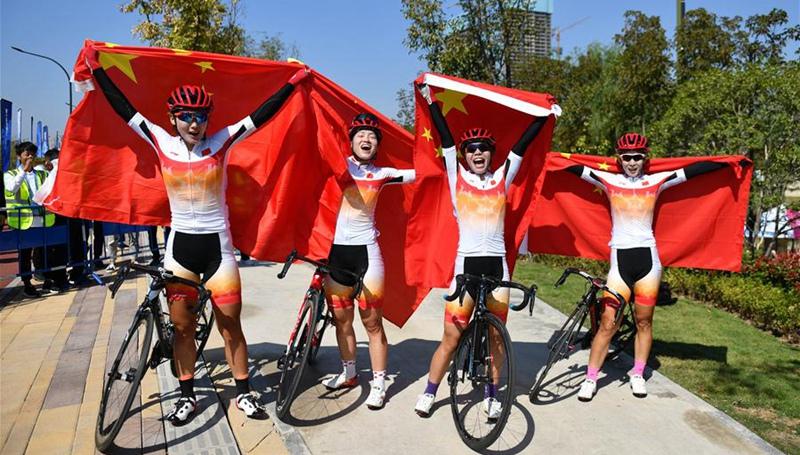 7. Militärweltspiele: Chinas Frauenteam holt Gold bei Finale des Straßenrennens der Frauenmannschaft