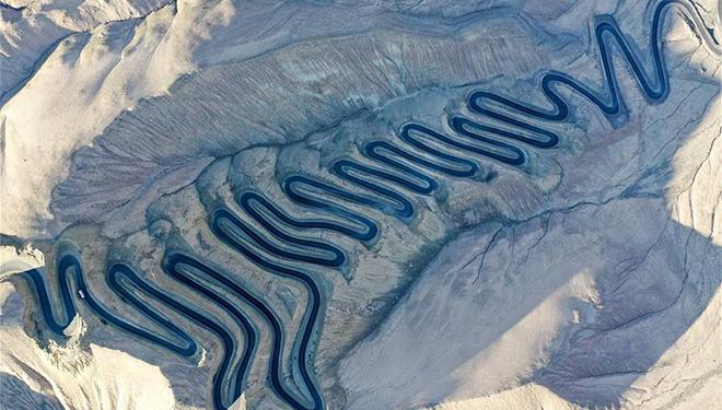"""Plateau-Himmelsstraße"" in Taxkorgan von Xinjiang"