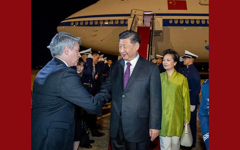 Chinesischer Staatspräsident trifft in Brasilien zum BRICS-Gipfeltreffen ein