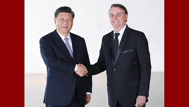 Xi führt Gespräche mit brasilianischem Präsidenten in Brasilia