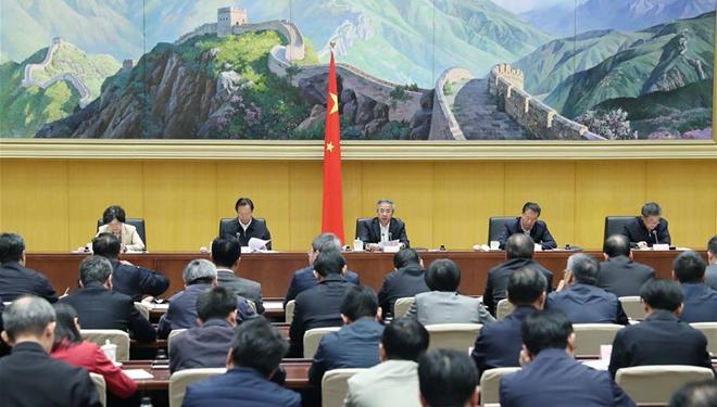 Hu Chunhua spricht auf nationaler Telefonkonferenz über Wasserschutzprojekt für Ackerland