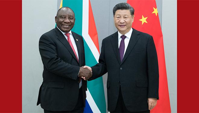 Xi trifft südafrikanischen Präsidenten in Brasilia