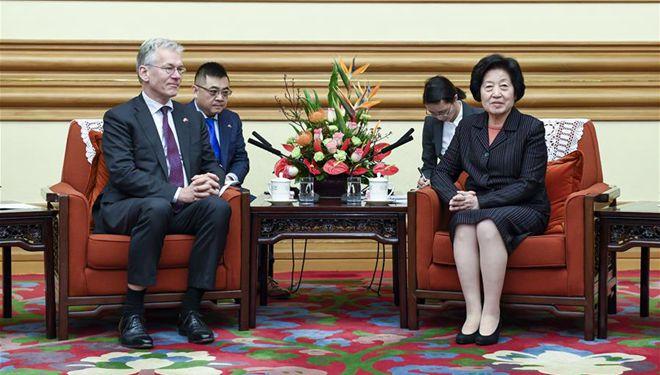 Chinesische Vize-Ministerpräsidentin trifft CEO von Royal Philips in Beijing