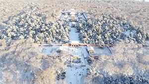 Schneelandschaft im Beiling-Park in Shenyang von Liaoning