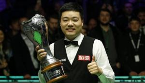 Ding Junhui gewinnt Finale der Snooker UK Championship 2019