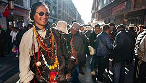 Tibeter Zhaxi in Lhasa