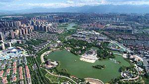 Landschaft der Stadt Xi'an von Chinas Shaanxi