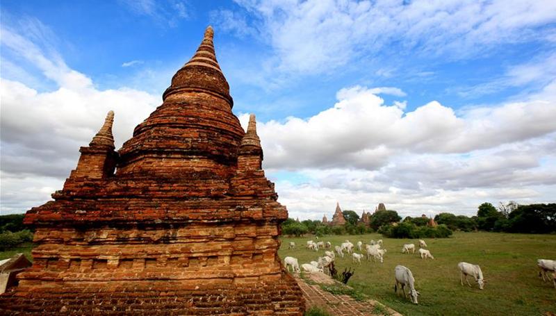 Landschaft der Städte in Myanmar