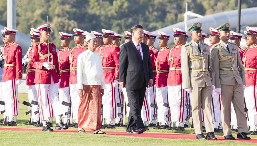 Xi nimmt an einem vom myanmarischen Präsidenten veranstalteten Willkommensbankett teil