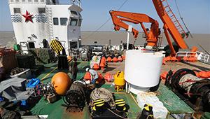 Chinas Forschungsschiff trifft für gemeinsame Forschung im Hafen von Thilawa ein