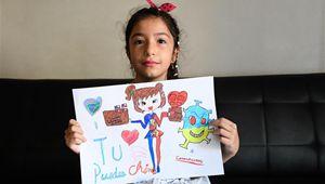 Kind in Chile zeichnet Gemälde, um Chinas Kampf gegen Epidemie mit dem neuartigen Coronavirus zu unterstützen