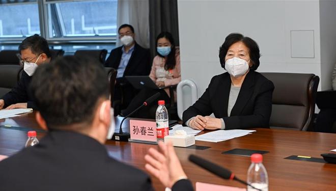 Chinesische Vize-Ministerpräsidentin forderte umfassende Anstrengungen zur Behandlung der infizierten medizinischen Mitarbeiter