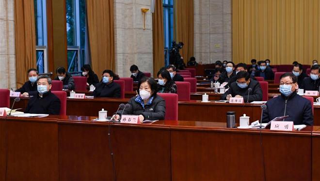 Vize-Ministerpräsidentin fordert verstärkte Patientenbehandlung in Hubei