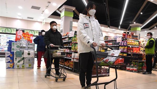Beijing gibt Öffentlichkeit 10 Vorschläge, da mehr Menschen in Supermärkten einkaufen