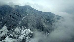 Schneelandschaft des Berges Taihang in Chinas Hebei